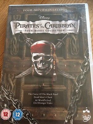 Pirates Of The Caribbean Trilogy 3 Disc Dvd Box Set Region 2