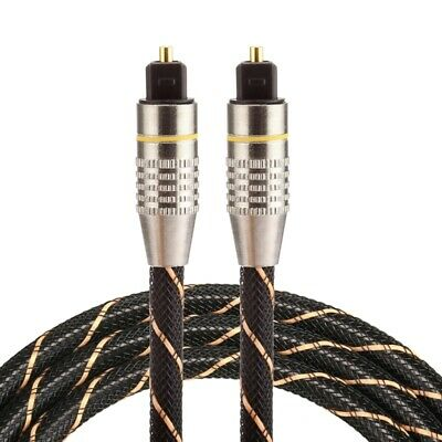 1m OD6.0mm Metal Head Net Line Toslink Male to Male Digital Optical Audio Cable
