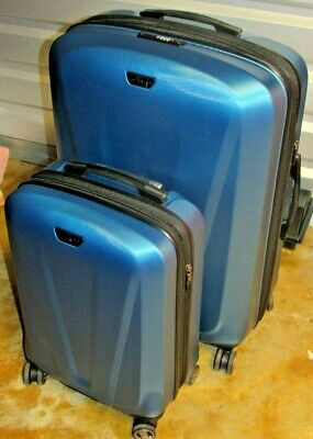a65fce164d 2 pc Ricardo Beverly Hills Polycarbonate Expandable Spinner Luggage Sets -  Blue