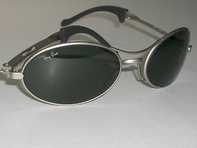 bcce98bea6 Bausch   Lomb Ray-Ban W2178 G15 Uv Silver Mirrored Eclipse Orbs Wrap  Sunglasses