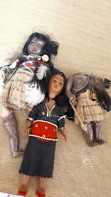 Vintage Tiny Black baby dolls parts in African asian? Costume Plastic