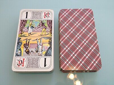 1970's ? Vintage HERON Tarot Card DECK used RARE w/ 78 cards France French