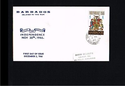 1966 - Barbados FDC - History - Independency [EG014]