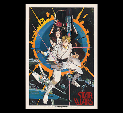 THE VERY 1st STAR WARS MOVIE POSTER OR PRODUCT OF ANY KIND ☆ 1976 HOWARD CHAYKIN