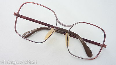 Marwitz Ladies XL Large Glasses Metal Vintage New Brown 70s Rectangular SIZE M