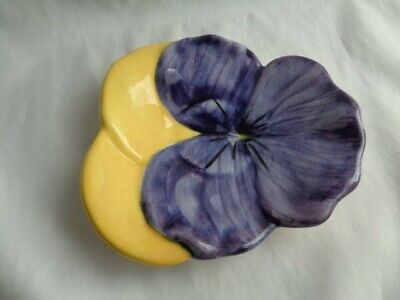 """Vintage Stangl Pansy Plate 6 1/2"""" Purple & Yellow  #3"""