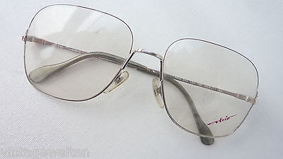 Atrio Women's Large Glasses Metal Vintage 70s New Silver XL SIZE L