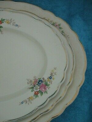 vintage ROYAL STAFFORDSHIRE England 3 piece GRADUATED SERVING PLATTERS af