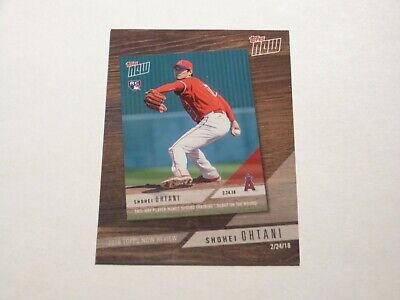 SHOHEI OHTANI 2019 Topps TOPPS NOW Card!!  LOS ANGELES ANGELS