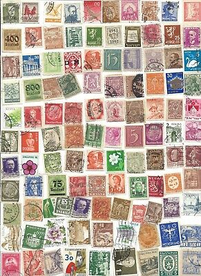 100 Different cancelled Worldwide  Stamps 11/30