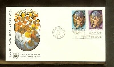 1974 - VN/UNO New York FDC Mi. 275-276 (1) - World population year [A80_133]