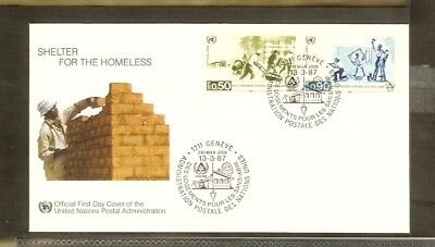 1987 - VN/UNO Geneva FDC Mi. 154-155 - International year for the homeless [A17_