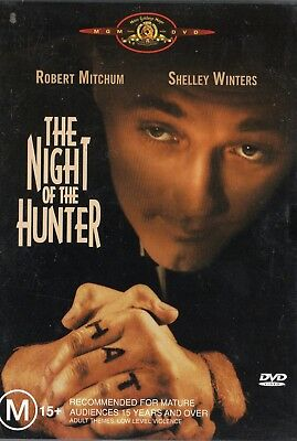 THE NIGHT OF THE HUNTER - Robert Mitchum- DVD -NEW and SEALED -Never played -R 4