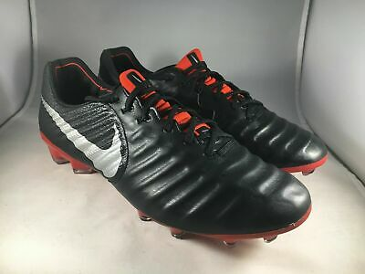NIKE TIEMPO LEGEND 7 VII Elite FG Black Red AH7238-006 Soccer Cleats ... b483bb4a7a2d5