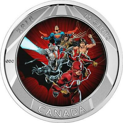Canada - 2018 - Justice League™ - 25-cent 3D Coin & Two Trading Cards in Folder