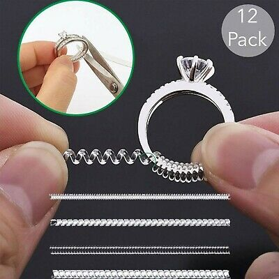 Ring Size Adjuster Invisible Jewelry Size Reducer Clean Guard 12 Pack
