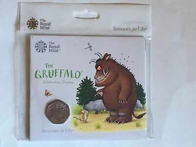The Gruffalo 50p Coin 2019 Brilliant Uncirculated Royal Mint Pack Sealed