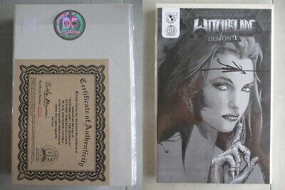 Witchblade Demon #1 DF B&W Cover C Signed Ltd. to 99 With COA
