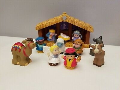 Fisher Price A Christmas Story Little People Nativity Manger 12 Piece With Box