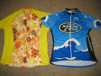 b1a93649e 2-Lot of Women s Cycling Jerseys XL Voler   Shebeest Bike Bicycle Ladies  Running