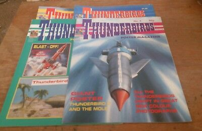 4 Thunderbirds Poster Mags,1992/93