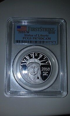 2010-W American Platinum Eagle PCGS PR70DCAM First Strike 1 OZ Proof Coin $100
