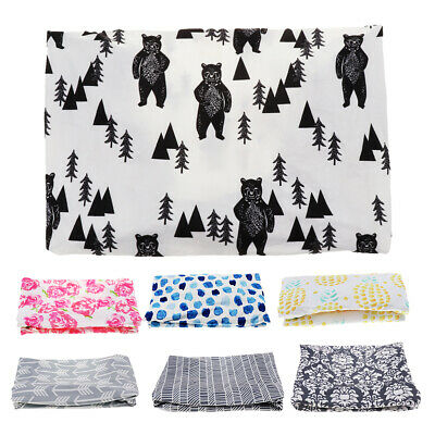 2Pcs Baby Changing Table Pad Cover for Boys Girls - Soft Breathable Cotton