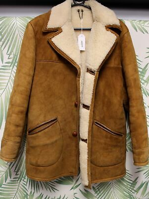 Mens Austin Reed Brown Suede Sheepskin Vintage Jacket Coat Size 40 H33 47 47 Picclick Uk