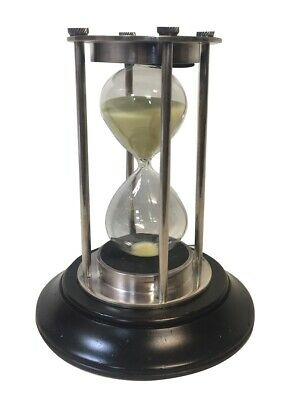 Maritime Hourglass, 30 Minutes Hourglass, Bell Clock, Brass Chrome-Plated