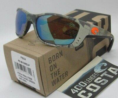 feef65d0644 COSTA DEL MAR realtree green mirror FISCH XTRA CAMO POLARIZED 400G  sunglasses!