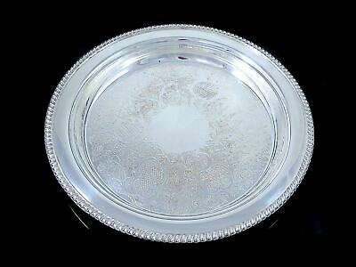 """Vintage 13"""" SHEFFIELD REPRODUCTION Silverplate PLATTER CHARGER Gadroon"""