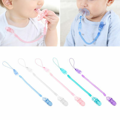 1PC Baby Infant Toddler Spring Dummy Pacifier Soother Nipple Clip Chain Holder