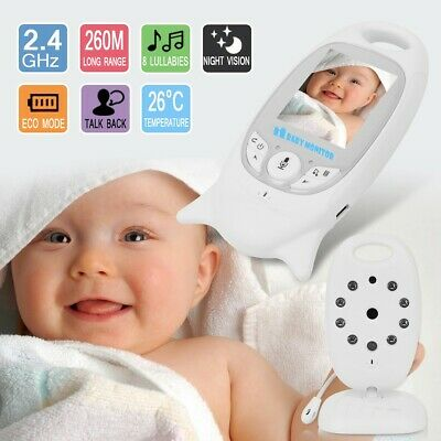 2.4GHz 2 inch LCD Wireless Baby Video Monitor 2-way Talk Nanny Security Camera