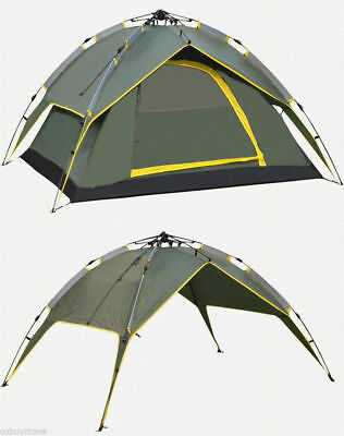 Double Layer Instant Pop Up Large Camping Tent Outdoor Shelter