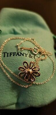 a7198a36c Tiffany & Co. Paloma Picasso Sterling Silver Daisy Flower Pendant Necklace  16