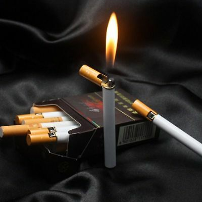 Compact Cigarette Mini Jet Flame Metal Lighter Butane Refillable Cigar Gas Torch