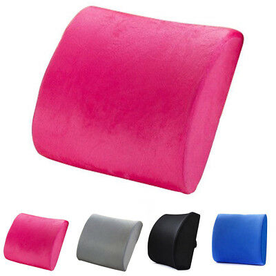 Auto Memory Foam Lumbar Back Support Cushion Relief Pillow Office Home Car Seat^