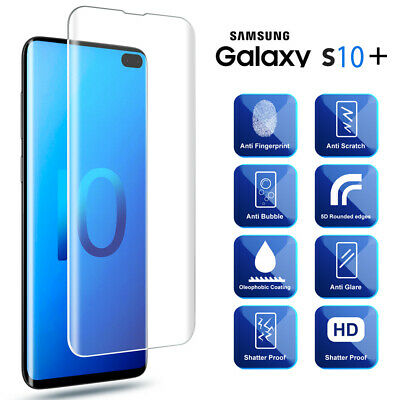For Samsung Galaxy S10/S10 Plus 5D Curved Crystal Clear Screen Protector Film AU