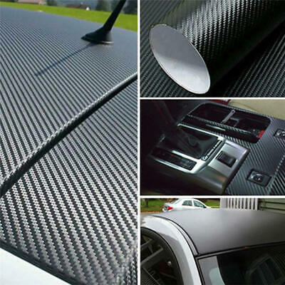 100 * 40cm 3D Matte Black Carbon Fiber Texture Car Vinyl Wrap Sticker Decor nhj