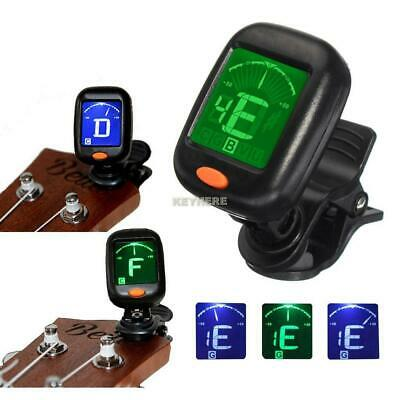 Portable Mini Clip-on Type Digital Durable Guitar Tuner Black