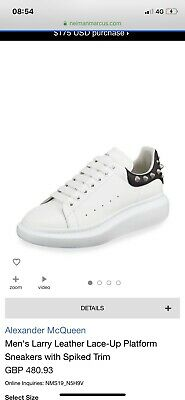 cea9af369ca5 ALEXANDER MCQUEEN OVERSIZED Sole Larry Trainers Black White Size ...