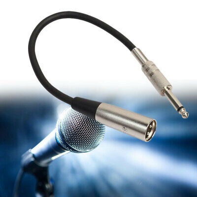"1.2ft 3-Pin XLR Male to 1/4"" Jack Male Plug Mono Microphone Adapter Cable  dad"