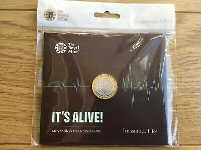Frankenstein It's Alive  2018 £2 Two Pound Coin In Royal Mint Presentation Pack
