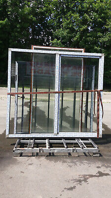 chassis fenetre tombant coulissant PVC double vitrage L2360xH2170 GEALAN