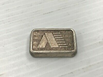 1981 A-Mark Chunky Ingot Stackable 1 Oz Silver Bar A 163 S *Q1IS