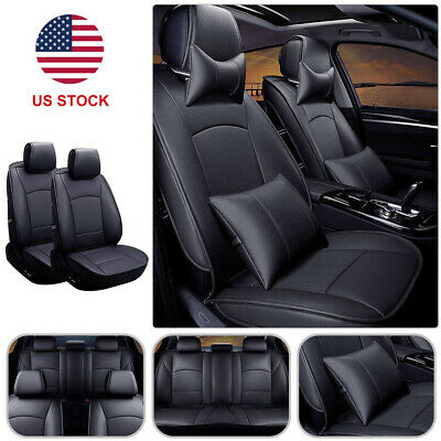 Enjoyable Pu Leather Car Seat Cover 5 Seat Front Rear W Pillow Set For Gmtry Best Dining Table And Chair Ideas Images Gmtryco
