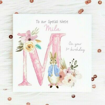 Personalised 1st Birthday Card Peter Rabbit Niece Daughter Son First 2nd 3rd