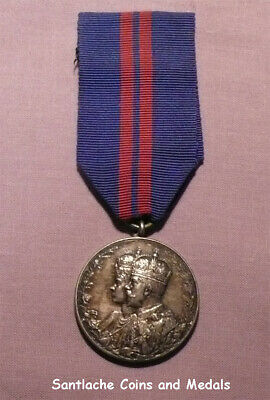 1911 Official King George V Coronation Medal In Silver
