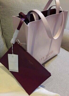 c70888f7c NEW ~ TED Baker Noelle Crosshatch Leather Shopper Bag Pale Purple ...
