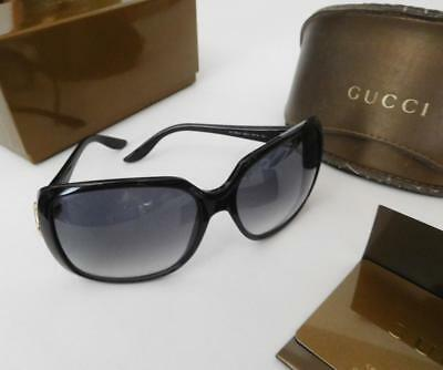 250fd330e07 Gucci Sunglasses~Black Frame-Gray Gradient Lens w Leather Case~Cert.